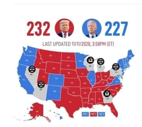 Оприлюднено нові результати виборів у США